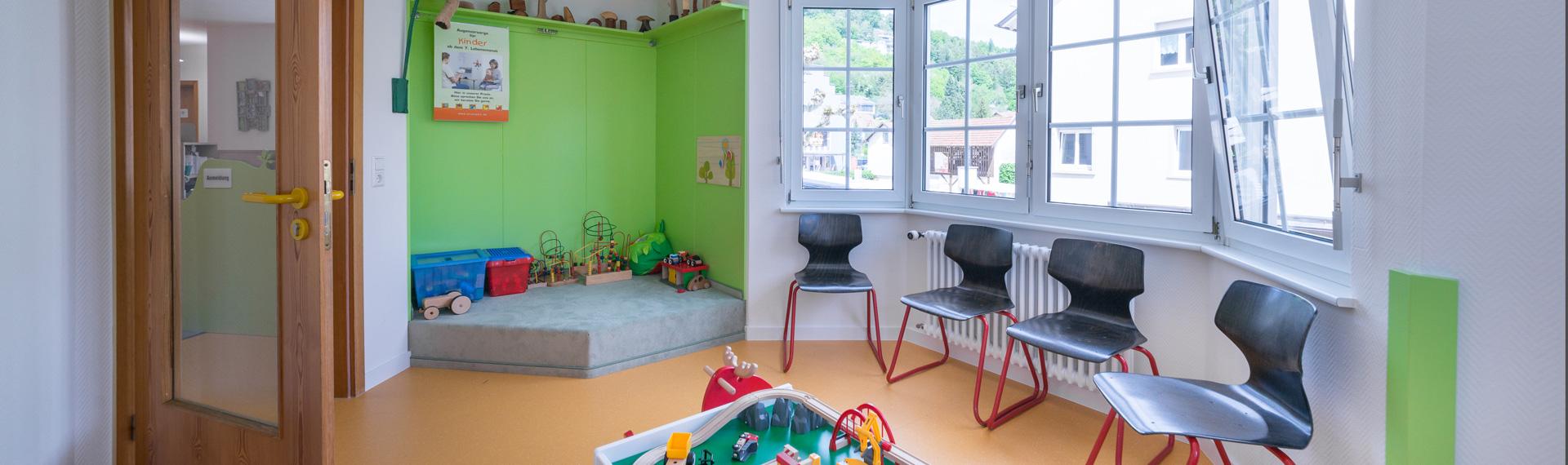 Kinderarztpraxis Waldshut-Tiengen Dr. med. Klaus Peter Ruehs Titelbild Wartezimmer